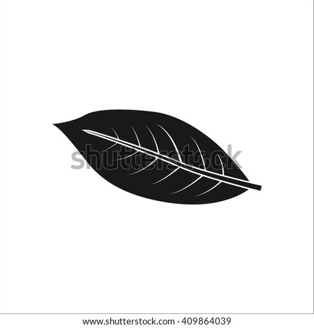 coffee leaf sign simple icon on