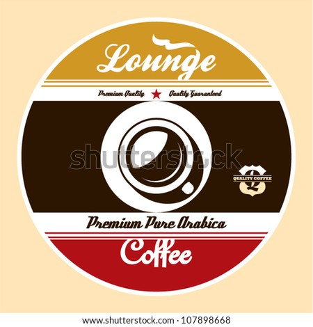 Coffee Lounge Label - stock vector