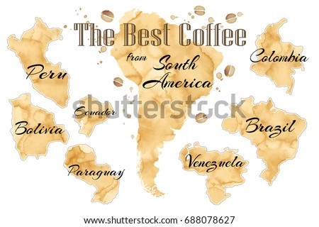 coffee map of south america