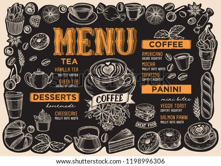 coffee menu template for