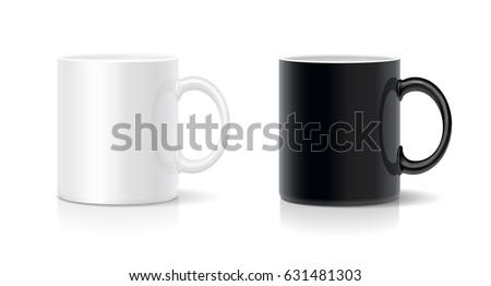 coffee mug black and white