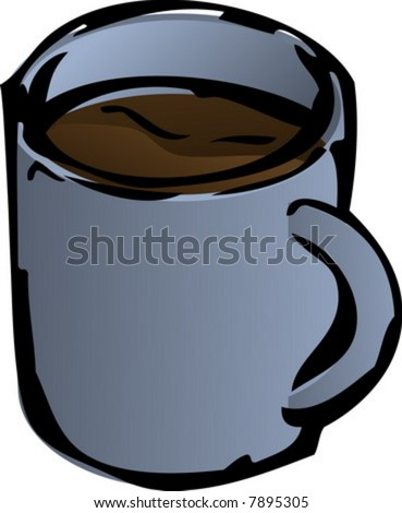 Coffee Mug Isometric 3d Illustration Lineart Sketch Hand-Drawn - 7895305  Shutterstock
