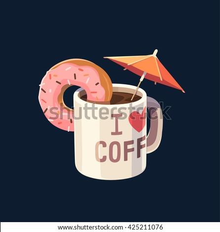 coffee mug with umbrella