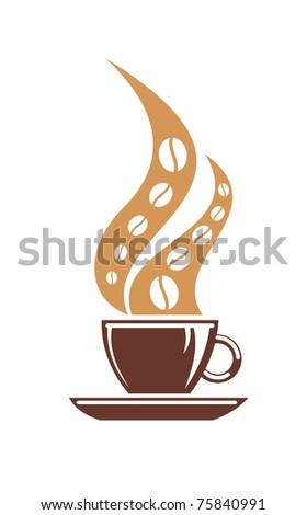 Coffee or tea symbol. Jpeg version also available in gallery