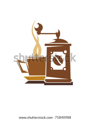 Coffee or tea symbol or logo template. Jpeg version also available in gallery - stock vector