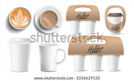 coffee packaging vector mockup