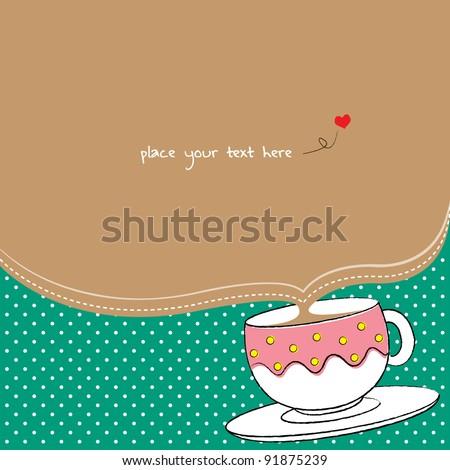 coffee party invitation card