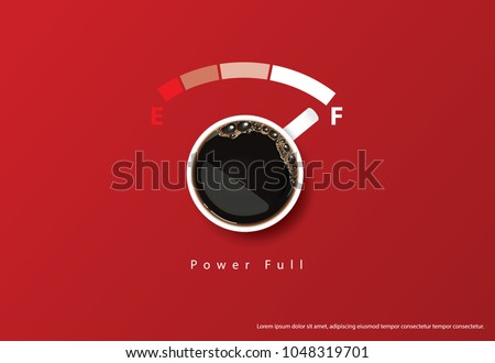 Stock Photo Coffee Poster Template Design Vector Illustration