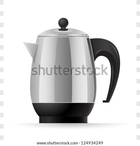 Coffee Pot Icon with White Background