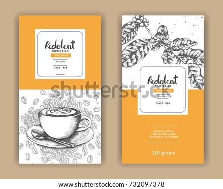 retro coffee label vectors download free vector art stock