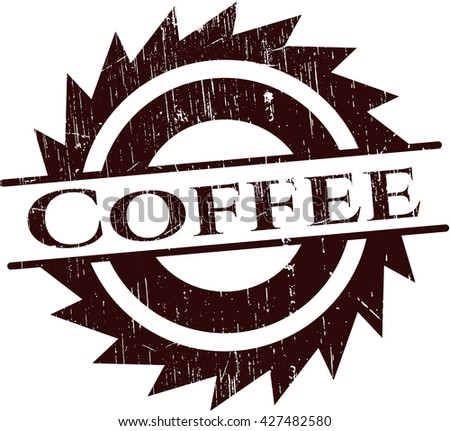 Coffee rubber stamp