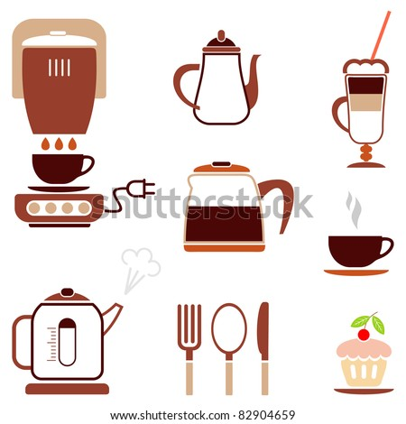Coffee - set of color vector icon for cafe, bar, restaurant. etc.