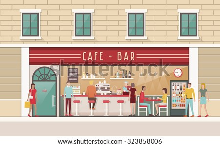 coffee shop and snack bar