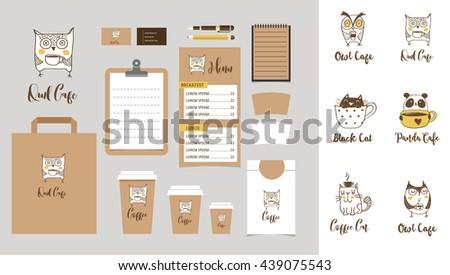 coffee shop branding mock up