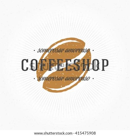 coffee shop hand drawn logo