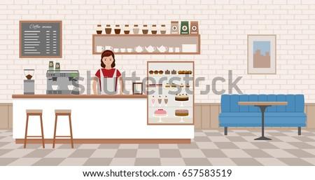 coffee shop interior young