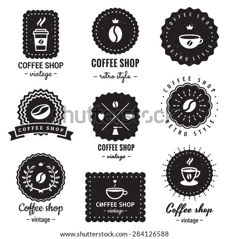 Hipster Coffee Shop Logos Coffee Shop Logo Badges
