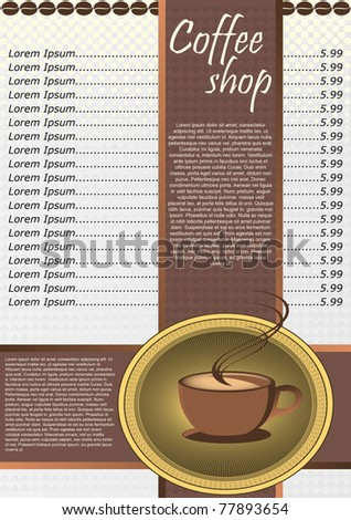 PSD Template For Coffee Shop Absolutely Free U2026 Sample Drink Menu Template »  Sample Coffee Menu U2013 7+ Documents In Pdf