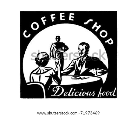 Coffee Shop - Retro Ad Art Banner