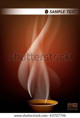 coffee smoke background, eps10 vector