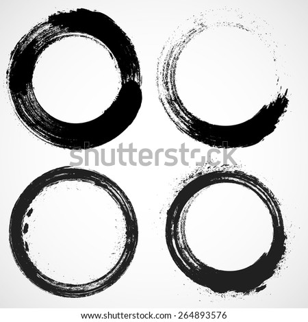 Coffee Stain Ring Vector Vector Circle Shape Circle Stamps Round Brush Stroke Icon Logo Banner Design