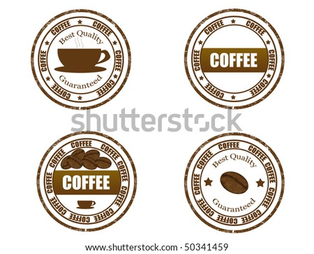 coffee stamps set  - more available