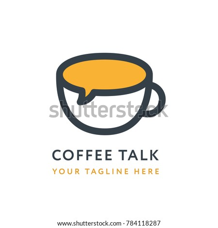 Coffee Talk Logo Design Template. Creative Concept for Coffeeshop Business.