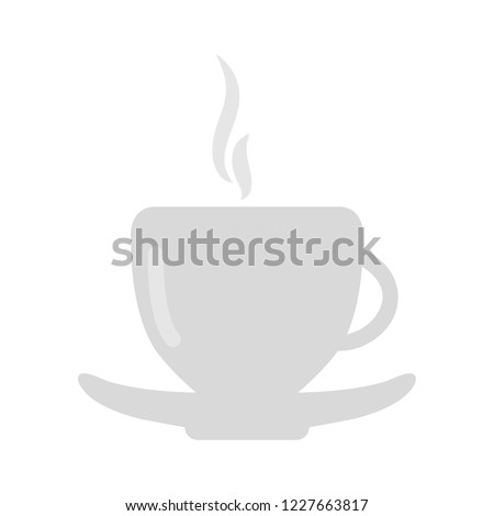 Coffee, tea cup icon in flat style. Coffee mug vector illustration on white isolated background. Drink business concept