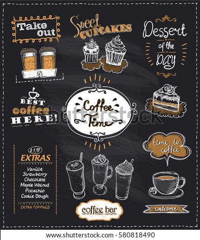coffee time chalkboard designs