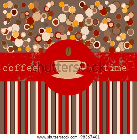 Coffee time, design template,copy space