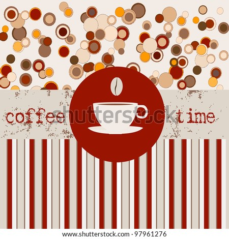 Coffee time menu, design template,copy space