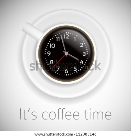 coffee time theme on white background