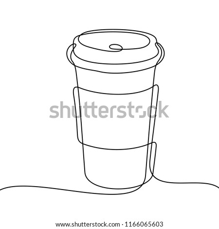 coffee to go continuous line
