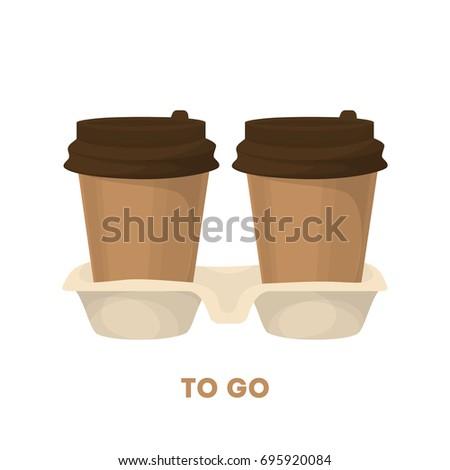 coffee to go two cardboard