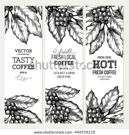Vector images illustrations and cliparts coffee tree illustration coffee tree illustration engraved style illustration vintage coffee banner collection vector illustration thecheapjerseys Gallery