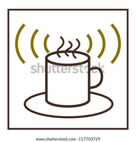 Coffee wifi concept sign design