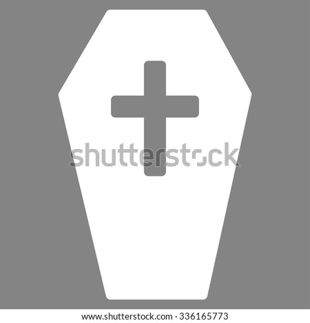 Coffin Vector Icon Style Is Flat Symbol White Color Rounded