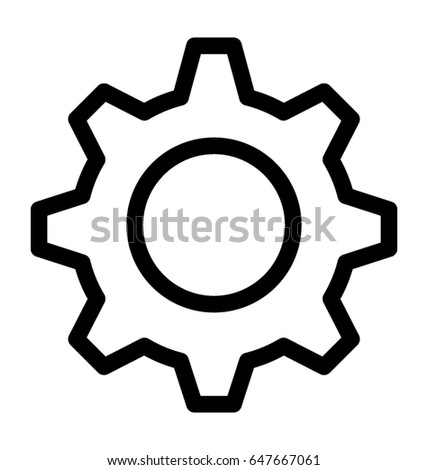 Cog Vector Icon