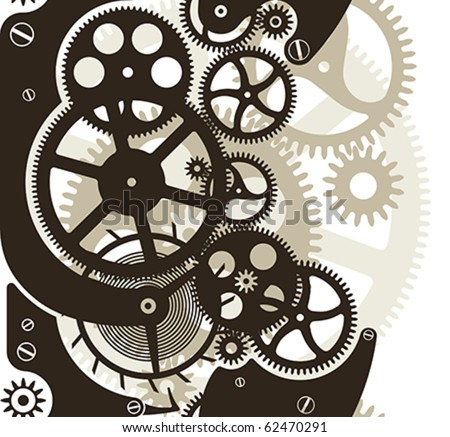 cog wheels work vector pattern