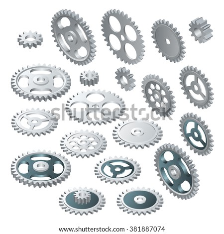 cogs and gears gear wheel set