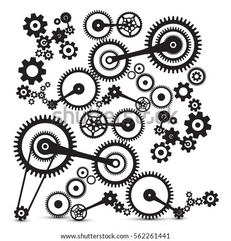 cogs  gears retro machinery