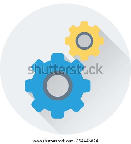 Cogs Vector Icon