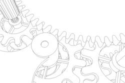 Cogwheel gear mechanism vector background