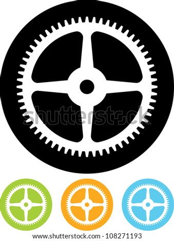 Cogwheel gear - Vector icon isolated