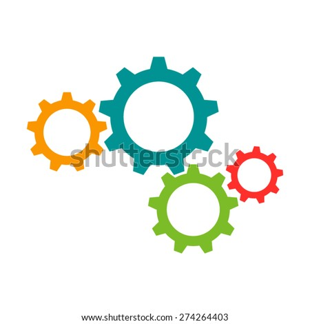 cogwheel icon flat picture vector eps10 graphic object jpeg