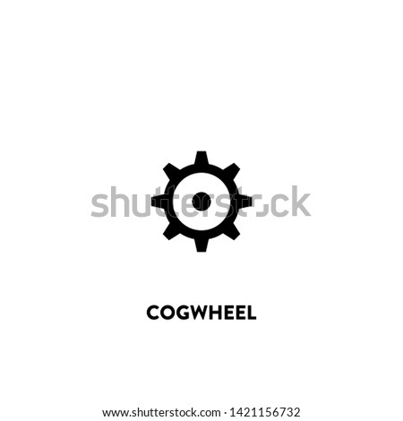 cogwheel icon vector. cogwheel sign on white background. cogwheel icon for web and app