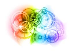 Cogwheels as industrial abtract background