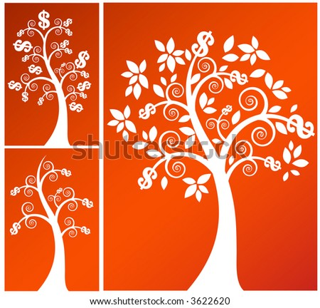 coil money tree  - three versions vector