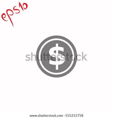Coin grey icon.