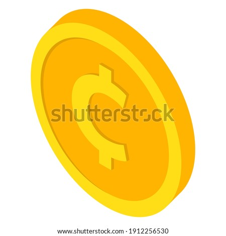 Coin icons. Cent and centavo coin . Currency symbols in isometric 3d style. Vector illustration  Stock photo ©